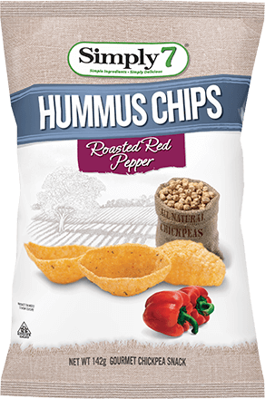 Roasted Red Pepper Hummus Chips